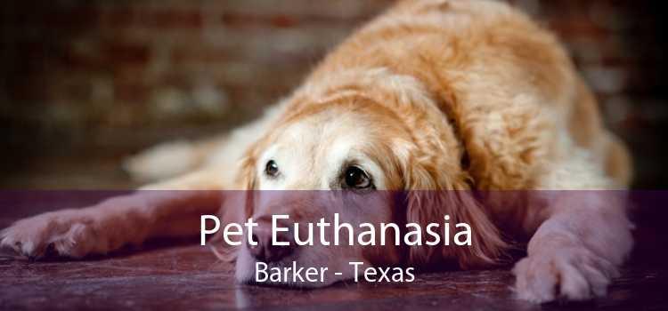 Pet Euthanasia Barker - Texas