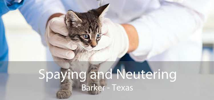 Spaying and Neutering Barker - Texas